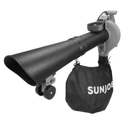 Sun Joe SBJ606E-GA-GRY 4-in-1 Electric Blower | 250 MPH | 14 Amp | Vacuum | Mulcher | Gutter Cleaner (Grey)