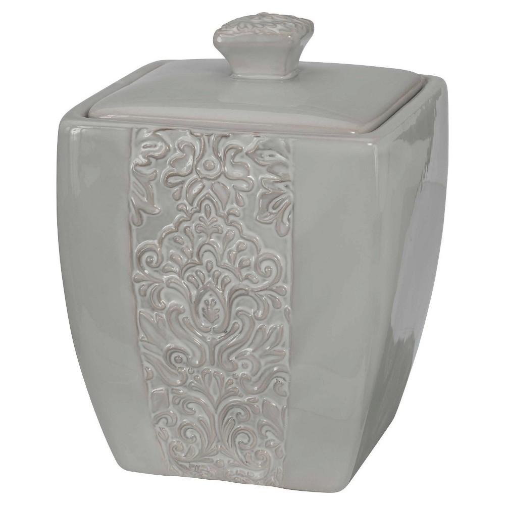 Heirloom Covered Jar Gray - Creative Bath