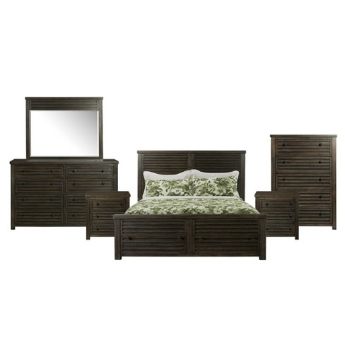 Montego 6pc Storage Bedroom Set Dark Walnut - Picket House Furnishings