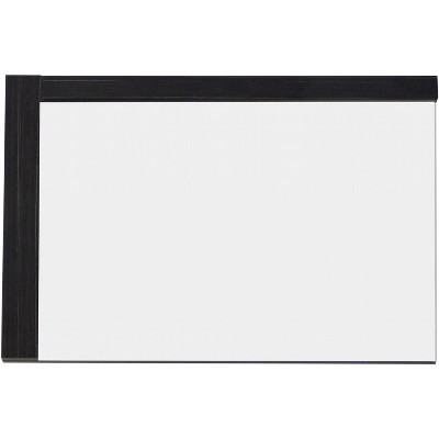 "35.5"" D2 Modern Plywood Melamine Mirror Dark Gray - American Imaginations"