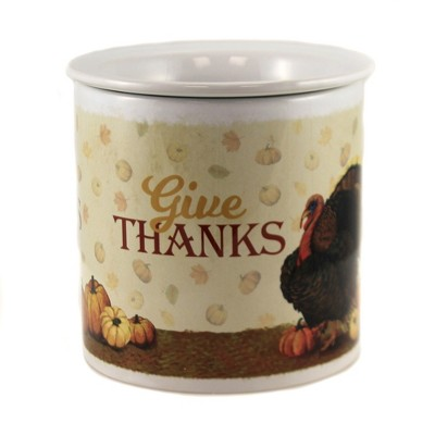 """Tabletop 5.5"""" Give Thanks Dip Chiller Thanksgiving Gathering Turkey Carson Home Accents  -  Serving Bowls"""