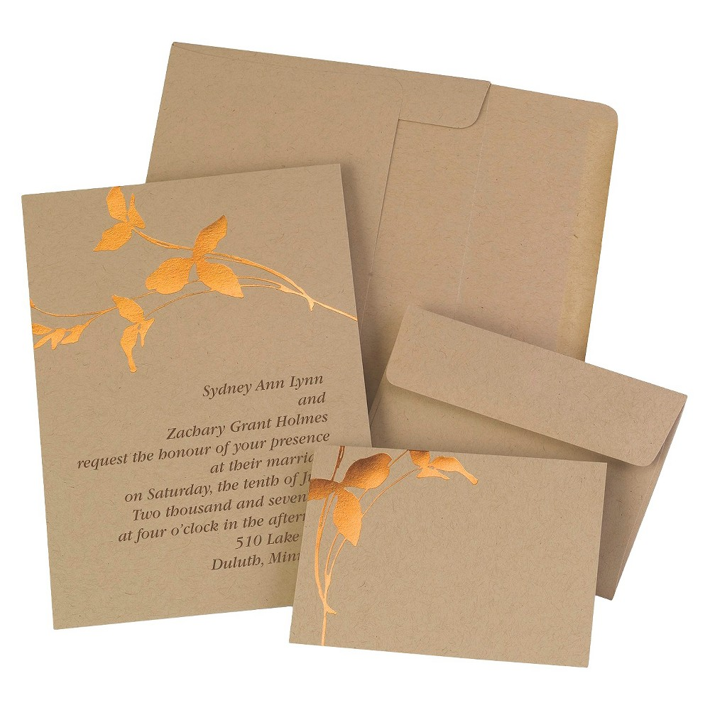 Copper Branches Wedding Kit - Brown, Shopping Bag Brown This Wedding-themed card pack with 50 cards comes from Hortense B. Hewitt. Color: Shopping Bag Brown.