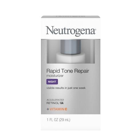 Neutrogena Rapid Tone Retinol Hyaluronic Acid Night Cream - 1 fl oz - image 1 of 4
