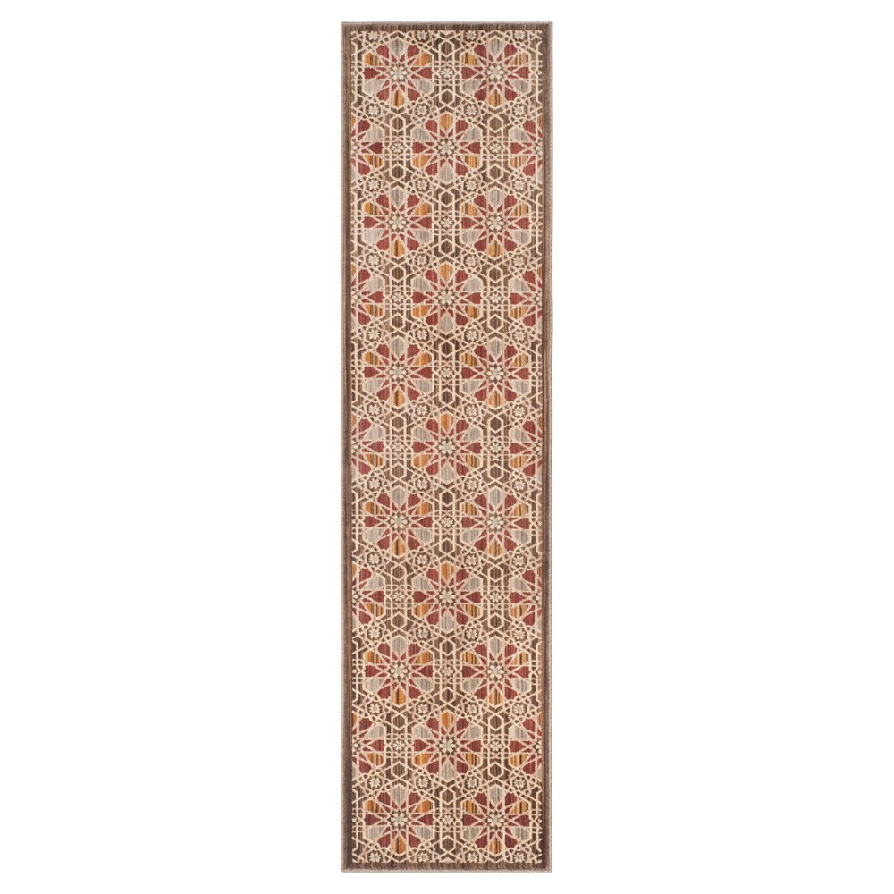 Brown/Beige Abstract Loomed Runner - (2'x8' Runner) - Safavieh