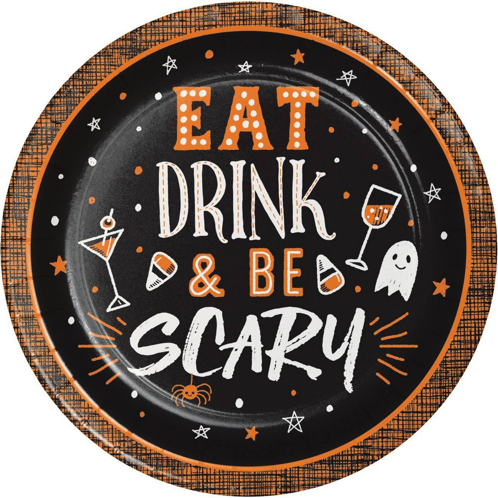 Image of Eat Drink and Be Scary Dessert Plates