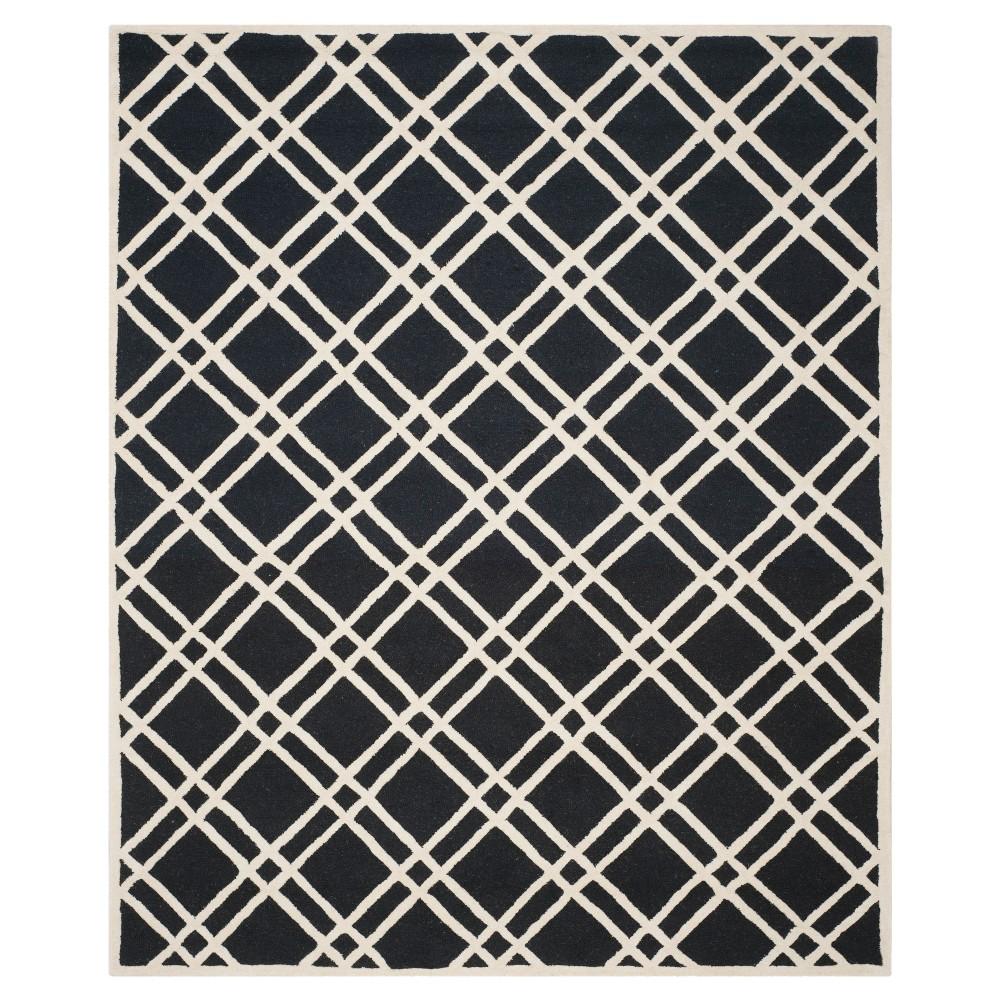 Frey Textured Wool Rug - Black / Ivory (8' X 10') - Safavieh, Black/Ivory