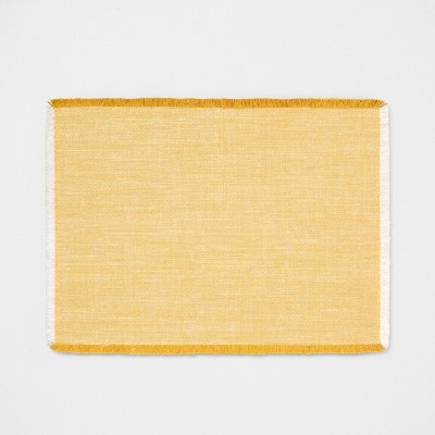Cross Dyed Placemat - Golden Yellow - Hearth & Hand™ with Magnolia