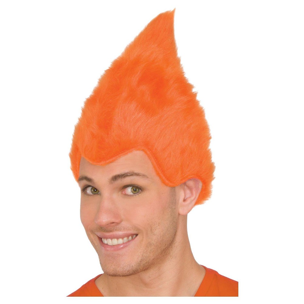 Orange Adult Fuzzy Wig, Adult Unisex, Multi-Colored