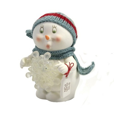 """Christmas 5.0"""" S'no Much Fun Snowpinions Snowflake  Carrot Nose  -  Decorative Figurines"""