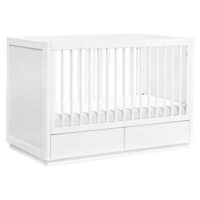 Babyletto Bento 3-in-1 Convertible Storage Crib with Toddler Bed Conversion Kit Greenguard Gold Certified