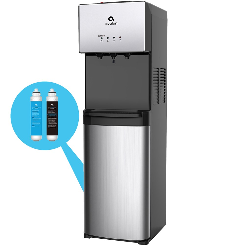 Image of Avalon Self Cleaning Water Cooler and Dispenser - Stainless Steel, Silver
