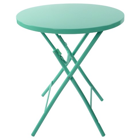 Metal Folding Patio Table Turquoise Room Essentials Target - Metal folding patio table and chairs