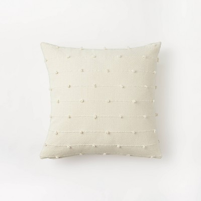 Textured Loop Square Throw Pillow Cream - Threshold™ designed with Studio McGee