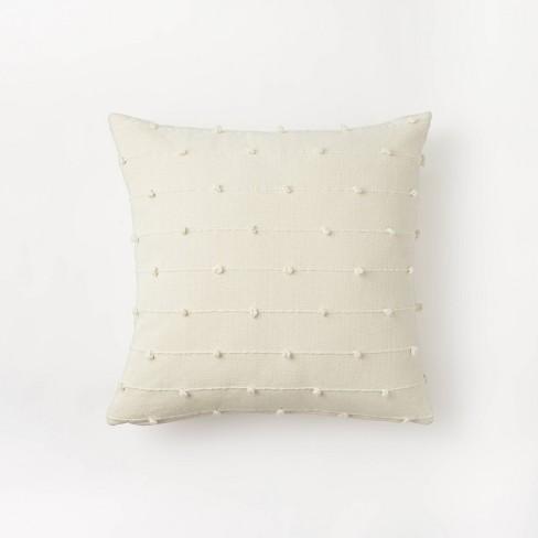 Textured Loop Square Throw Pillow Cream - Threshold™ designed with Studio McGee - image 1 of 4
