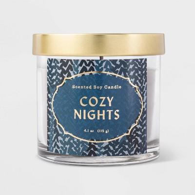 4.1oz Lidded Glass Jar Cozy Nights Candle - Opalhouse™