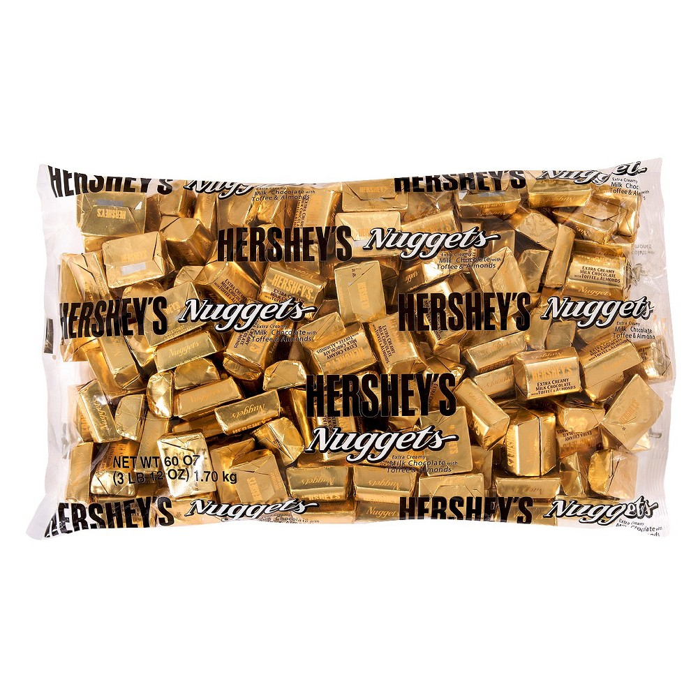Hershey's Nuggets With Toffee & Almonds Extra Creamy Chocolate Candy - 60oz, Gold