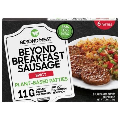 Beyond Meat Beyond Breakfast Sausage Spicy Plant-Based Breakfast Patties - Frozen - 7.4oz