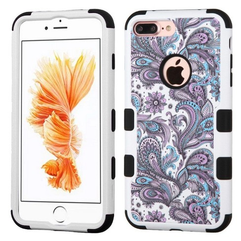 MYBAT For Apple iPhone 7 Plus Purple European Flowers Tuff Hard Hybrid Case Cover - image 1 of 3