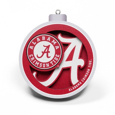 NCAA Alabama Crimson Tide 3D Logo Ornament