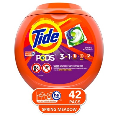 Tide Pods Laundry Detergent Pacs Spring Meadow - 42ct