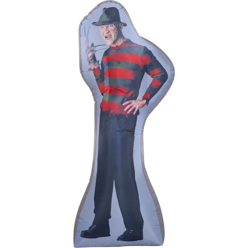 Gemmy Photorealistic Airblown Freddy Kruger S LG WB, 6 ft Tall, grey - image 1 of 2