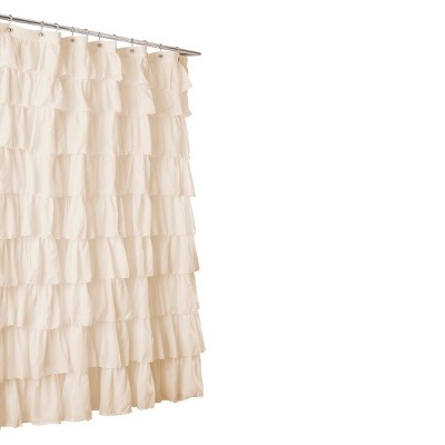 Lush Décor Large Ruffle Shower Curtain
