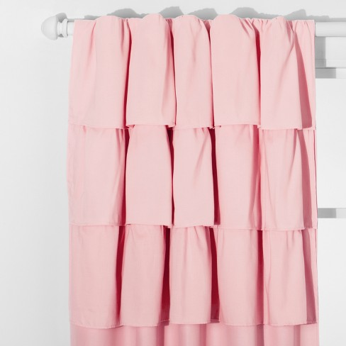 Ruffle Blackout Curtain Panel - Pillowfort™ - image 1 of 4