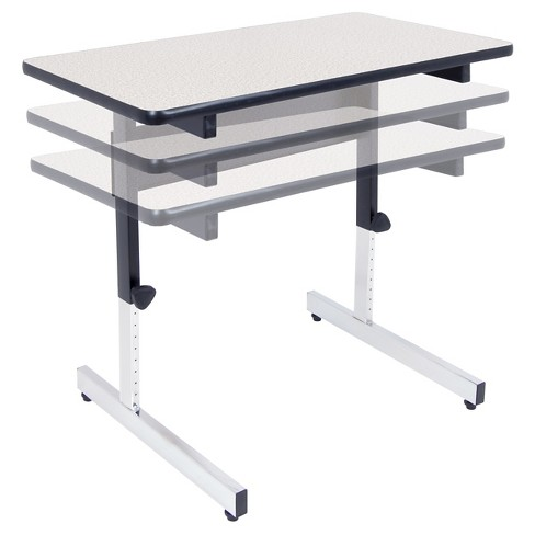 Adapta Adjustable Height Standing Desk 20 X 36 Black Spatter