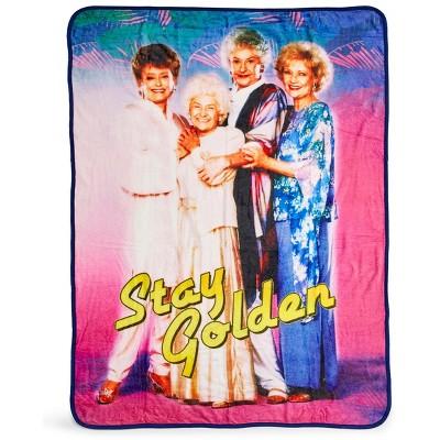 Just Funky The Golden Girls Stay Golden 45 x 60 Inch Fleece Throw Blanket