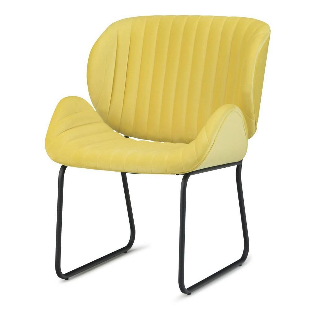 Sia Accent Chair Daffodil Yellow - Wyndenhall