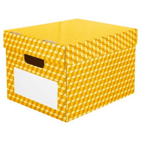 Storex® Corrugated File Tote - Yellow - image 1 of 1