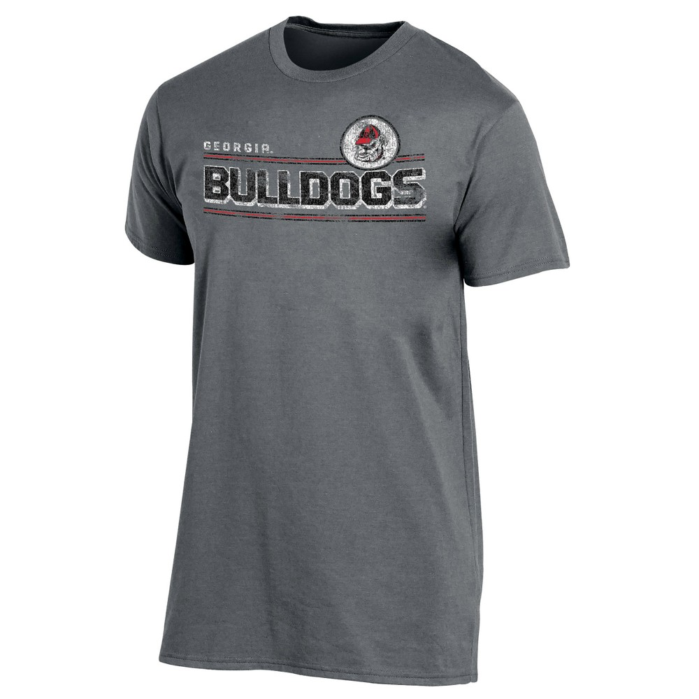 Georgia Bulldogs Men's Keep the Lights On Bi-Blend Gray Heathered T-Shirt M, Multicolored