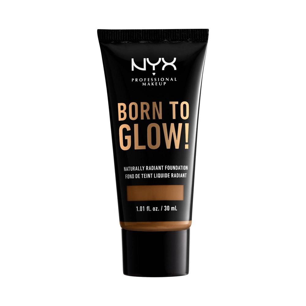 Nyx Professional Makeup Born To Glow Radiant Foundation 16 7 Warm Mahogany 1 01 Fl Oz