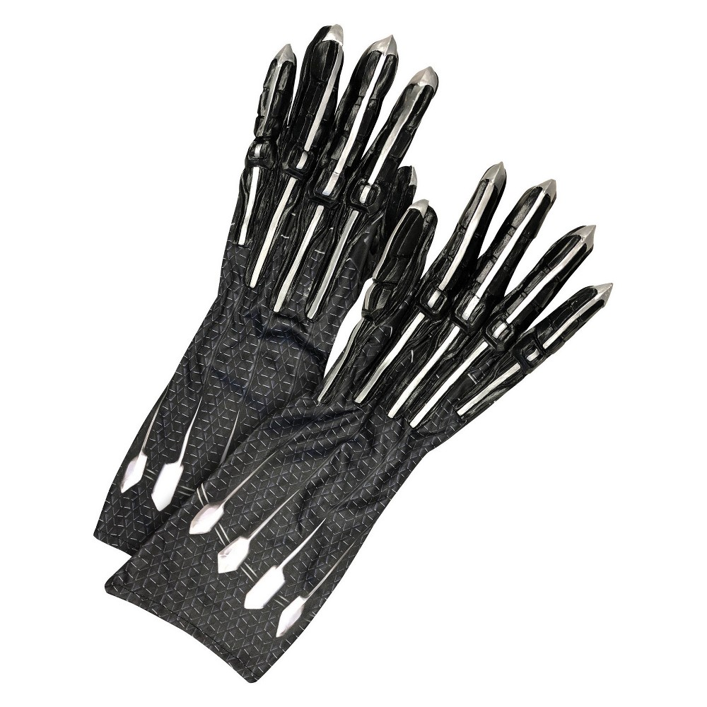 Adult Marvel Black Panther Costume Gloves With Claws, Men's, Multi-Colored