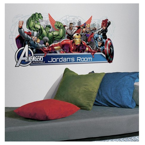 108 AVENGERS ASSEMBLE PERSONALIZATION HEADBOARD Peel and Stick Wall Decal - ROOMMATES - image 1 of 3