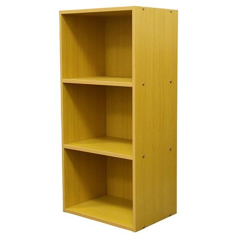 355 3 Level Bookshelf Tan Wood