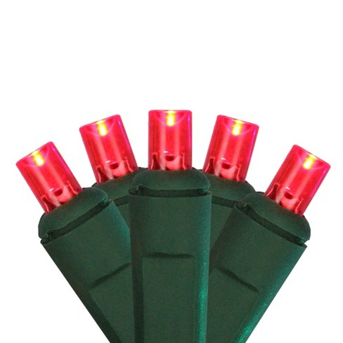 Northlight 4'x 6' Wide Angle LED Net Style String Lights Red - Green Wire