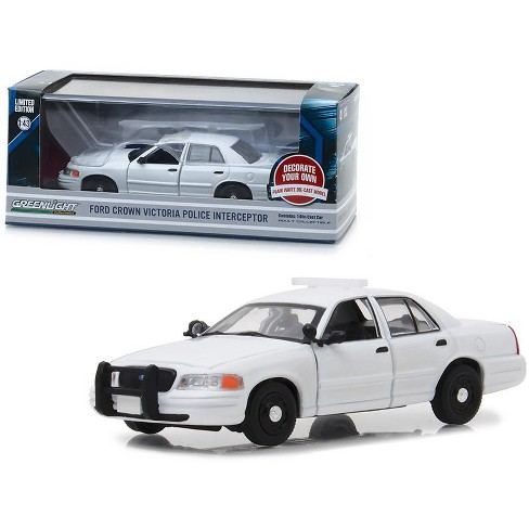 Ford Crown Victoria Police Interceptor Plain White 1 43 Cast Model Car By Greenlight