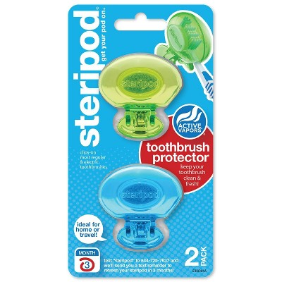 Steripod Clip-On Toothbrush Cover - Trial Size - 2pk