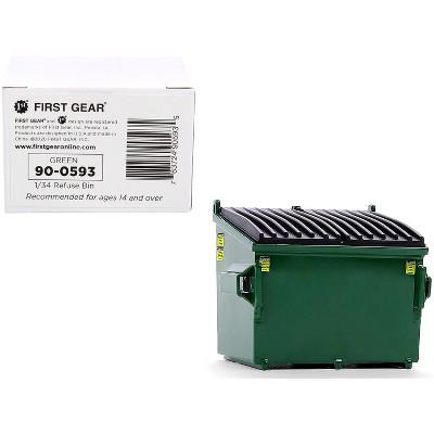 Refuse Trash Bin Green 1/34 Diecast Model by First Gear