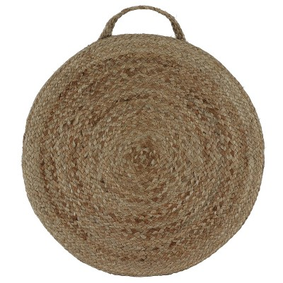 Sanibel Woven Round Floor Cushion Natural - Décor Therapy