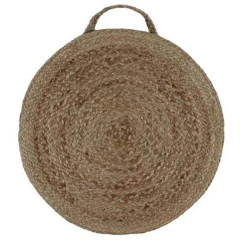 Sanibel Woven Round Floor Cushion Natural - Décor Therapy - image 1 of 4