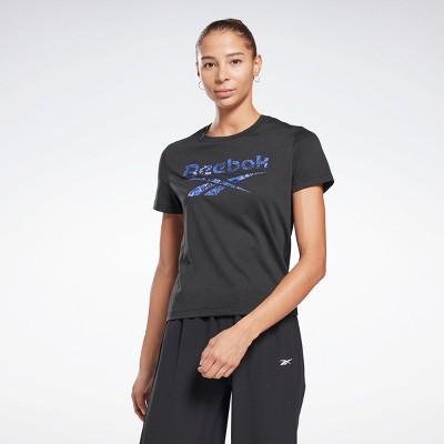 Reebok Modern Safari Logo T-Shirt Womens Athletic T-Shirts