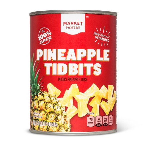 Pineapple Tidbits in 100% Pineapple Juice 20oz - Market Pantry™ - image 1 of 1