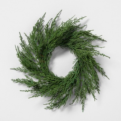 Mini Wreath Cedar - Hearth & Hand™ with Magnolia