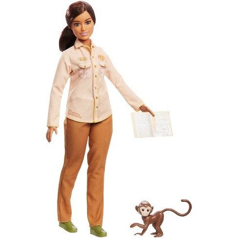 Barbie National Geographic Doll with Monkey - image 1 of 4