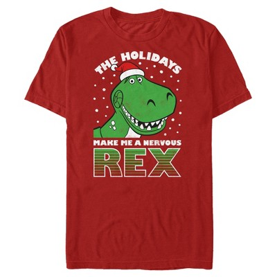 Men's Toy Story Christmas Nervous Rex T-Shirt