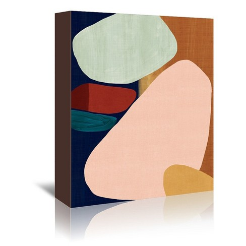 Americanflat Stacking Pebbles Ii By Pi Creative Art Wrapped Canvas Target