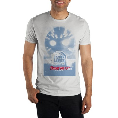 Friday the 13th Classic Horror Movie Mens White Graphic Tee