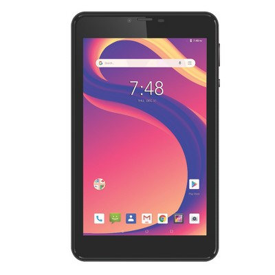 """Hyundai Koral 7XL 7"""" LTE Unlocked Tablet for AT&T / T-Mobile - Quad-Core, Android 9.0 Pie, 2GB+16GB - Black"""